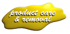 Product Care and Removal